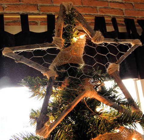 shabby love rustic tree topper tutorial