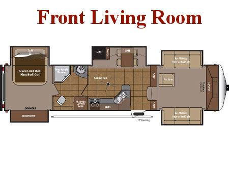 Fifth Wheel Floor Plans Front Living Room | new fifth wheels for sale broadmoor rv superstore