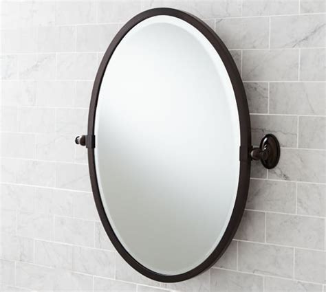 pivoting bathroom mirror bennett pivot mirror pottery barn