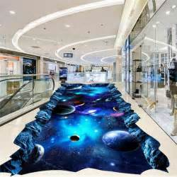 galaxy universe painting  floor mural photo flooring
