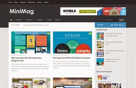blog layout responsive minimag responsive blogger template themexpose