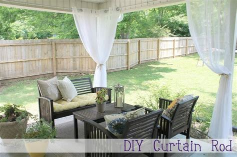 outdoor curtain rods for patio outdoor diy curtain rod for the home garden ideas