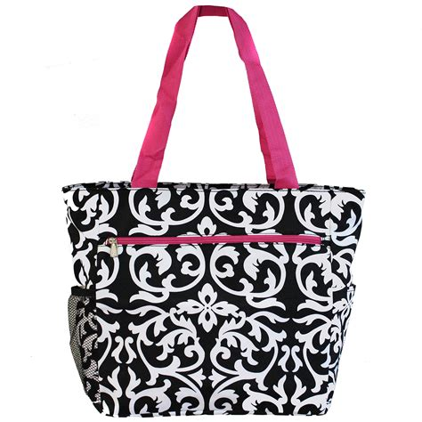 World Traveler 13 damask pink cosmetics bag large