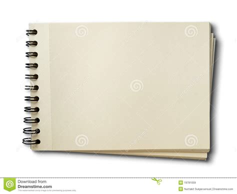 sketch pad horizontal blank sketch book on white royalty free stock images image 19781059