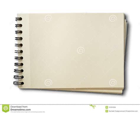horizontal blank sketch book on white royalty free stock