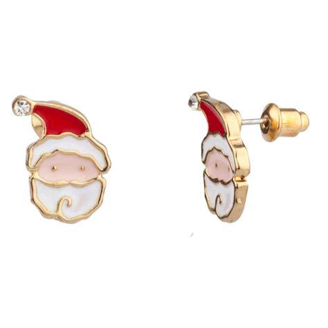 Santa Claus Earings Anting Santa 1 santa claus rhinestone stud earrings earrings