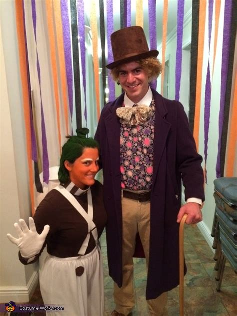 willy wonka  oompa loompa couples costume