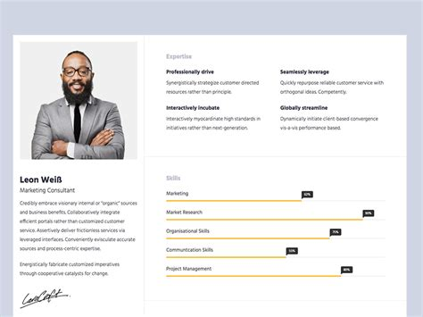 10 free bootstrap html resume templates for cv
