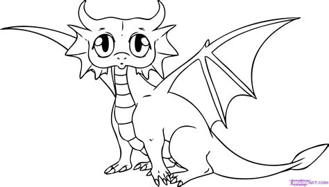 free coloring pages of cute flying dragons