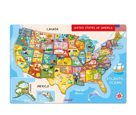 pictures of the usa map janod magnetic usa map 19 7 inches x 13 4