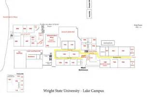 Wright State Map by Campus Maps Lake Campus Wright State University