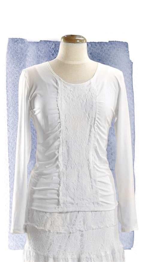 Lace Panel Top lace panel top 8020 white elegance