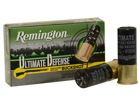 remington ultimate defense ammo 12 ga 2 3 4 00 buckshot 8