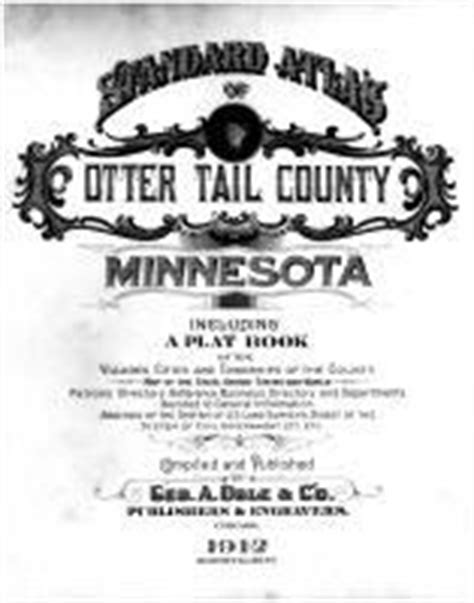 otter tail county 1912 minnesota historical atlas