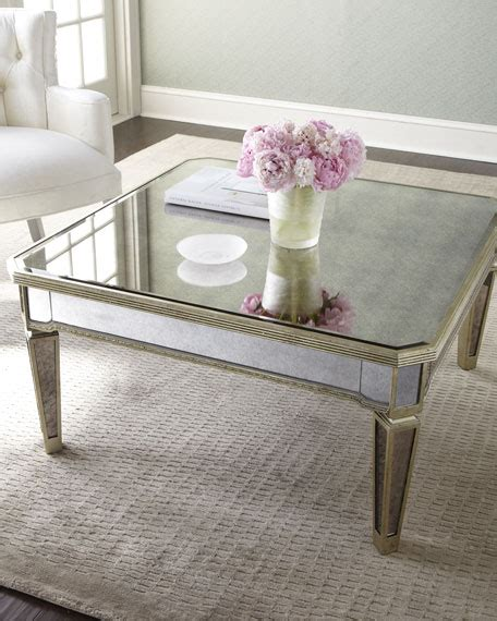 mirror living room tables amelie mirrored coffee table