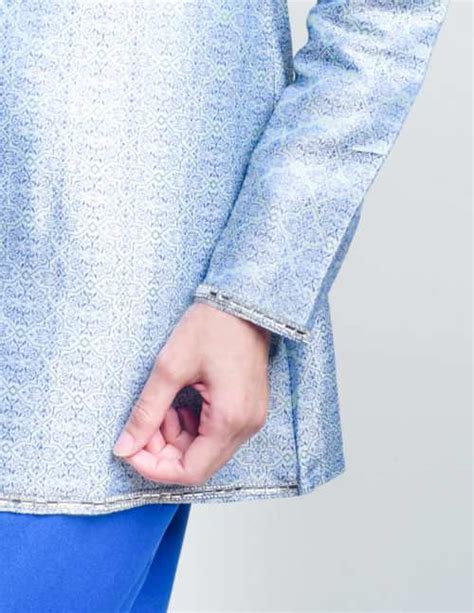 Baju Kurung Moden Electric Blue baju kurung moden servyna blue lovelysuri