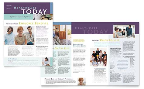 medical health care newsletters templates designs