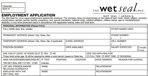 printable job applications for retail stores charlotte russe job application form free job application