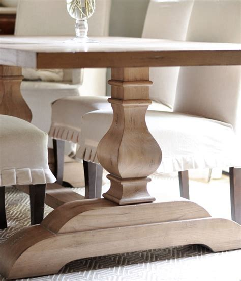 Dining Room Tables With Built In Leaves by Trestle Table Arrival Centsational Style