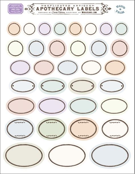 oval label templates free printable vintage and oval ornate blank labels