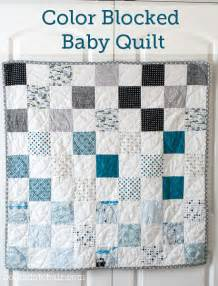 Color blocked free baby quilt pattern designed by melissa from