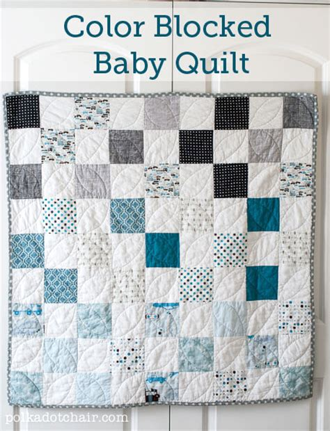 Easy Baby Quilt Blocks by Color Blocked Baby Quilt Patterns Free Pattern Polka
