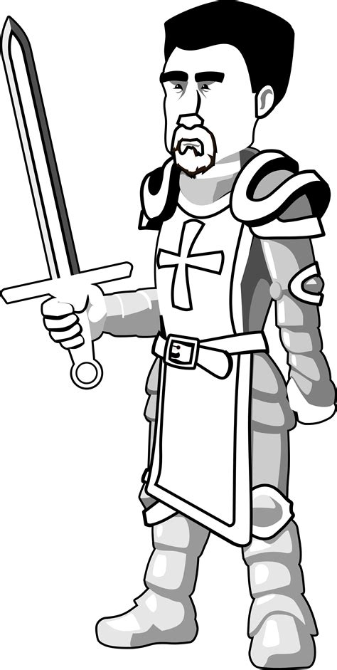 medieval black knight clipart   cliparts