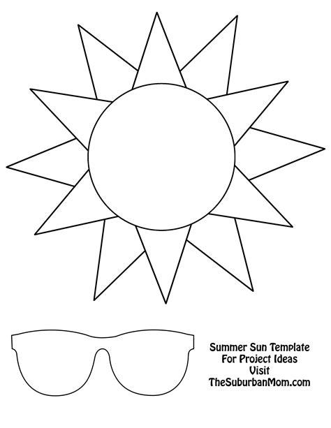 Countdown To Summer Craft Template Summer Sun Template And Summer Free Printable Craft Templates