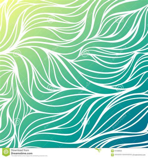 mom5kids sketch 3 waves blue green vector color drawing wave sea background blue