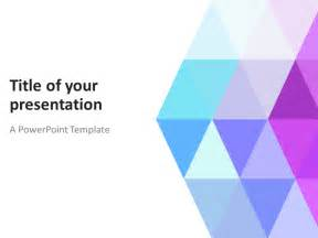 What Is Template In Powerpoint by Abstract Powerpoint Template With Pastel Triangles