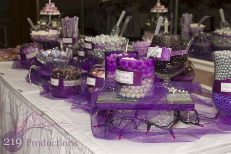 Purple Wedding Candy Buffet Car Interior Design Purple Wedding Buffet