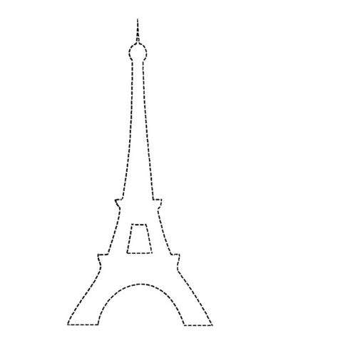 eiffel tower template eiffel tower outline clipart best