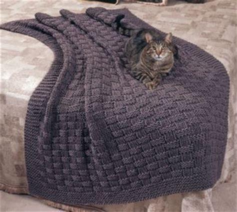 basketweave knit afghan pattern basket weave comfy knit afghan epattern leisurearts