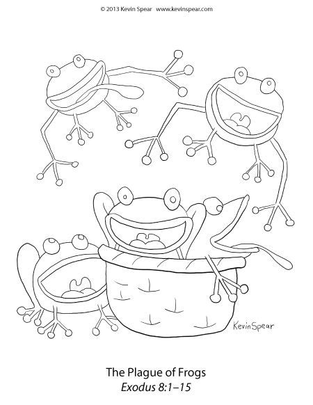 plague of frogs coloring page 39 best images about coloring pages ministry on