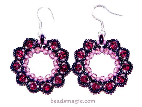 free patterns for beaded earrings free pattern for earrings berry juice magic