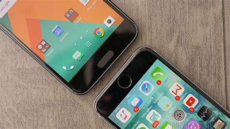 htc 10 vs apple iphone 6s plus look android authority