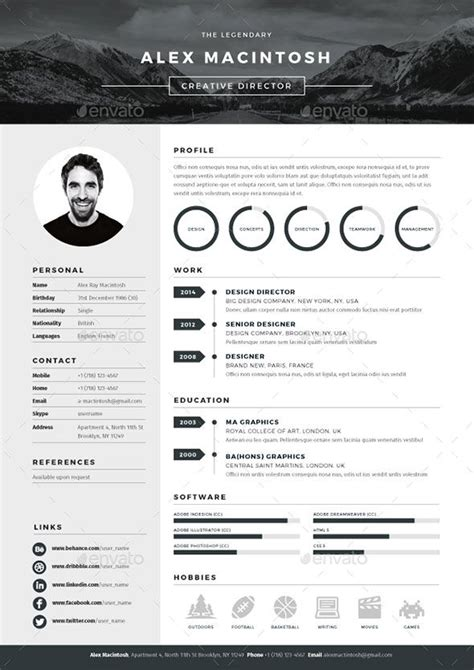 best resume design templates best 25 best resume template ideas on