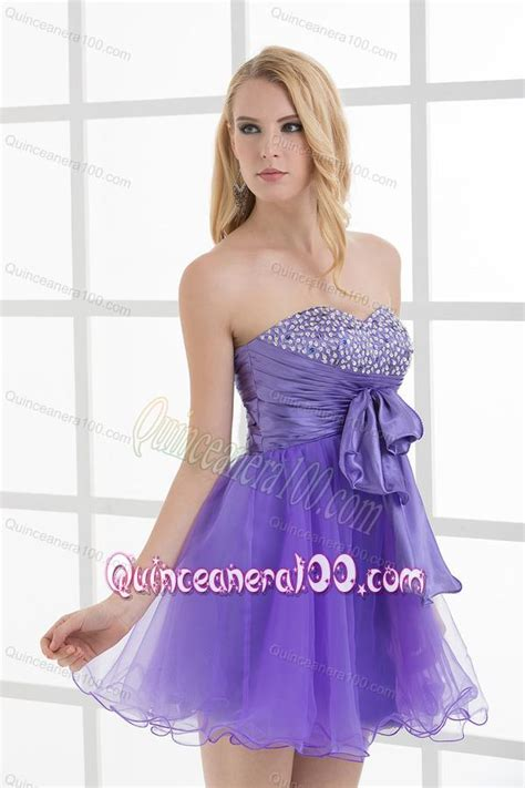 A line Strapless Sleeveless Beading and Ruching Dama Dresses   Quinceanera 100