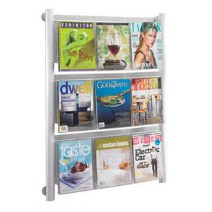 safco luxe 9 pocket magazine rack 4134sl