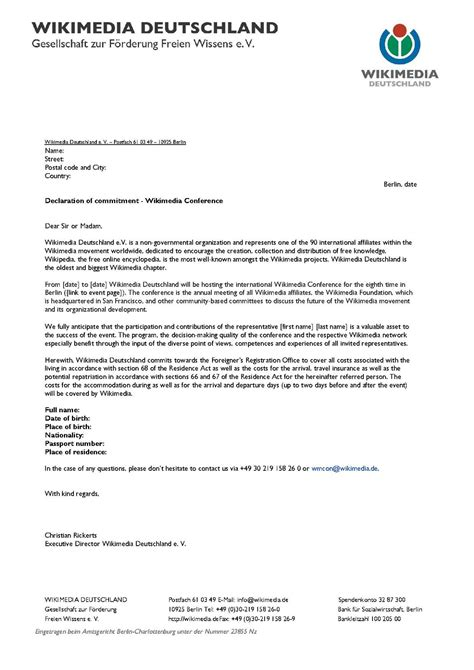 International Conference Invitation Letter Wikimania Letter Of Invitation Meta