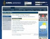 arrl radio vanity call signs resource detail