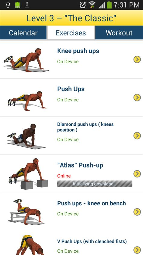 chest workout appstore for android