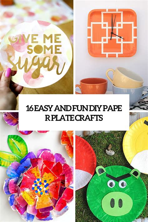 diy decorations using paper plates 16 easy and diy paper plate crafts shelterness