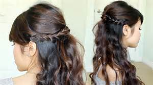 bridesmaid hairstyles useing a curling wand prom hairstyle braided half updo feat nume reverse