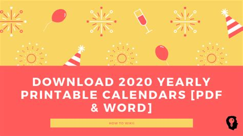yearly printable calendars  word   wikii