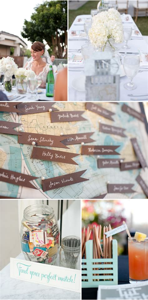 frugal vintage travel themed wedding inspiration