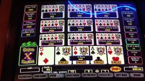 super times pay video poker double double bonus  aces dealt   handpay youtube