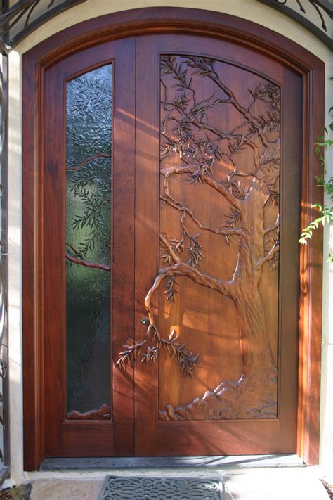 Carved Doors by Carved Door Olive Tree Carved In Wood And Theme