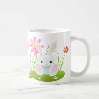 easter bunny little blue bunny with flowers classic