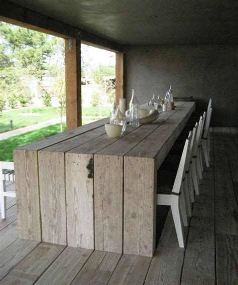 Patio Table Diy Diy Outdoor Dining Table Projects The Garden Glove